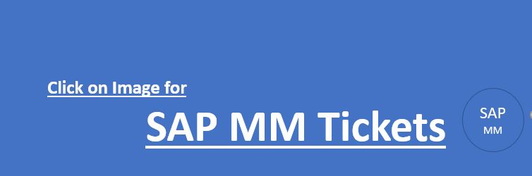 SAP MM Real-Time Tickets