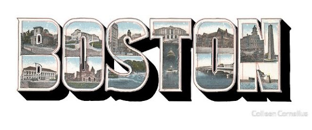 Boston Vintage Big Letter