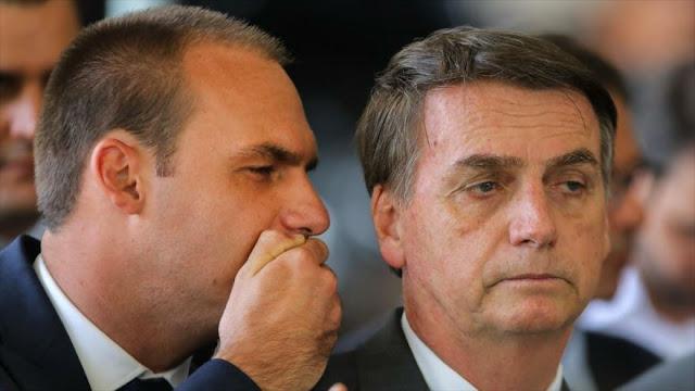 Bolsonaro ofrece a su hijo ser embajador de Brasil en EEUU