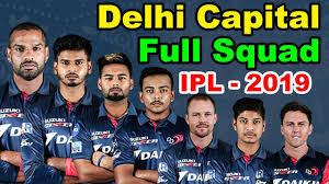 IPL 2019 DC squad