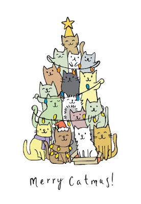 Biglietto di auguri: Merry Catmas!!