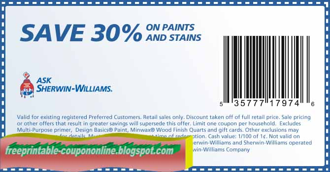 graphic about Sherwin Williams Printable Coupon called Printable Coupon codes 2019: Sherwin Williams Coupon codes