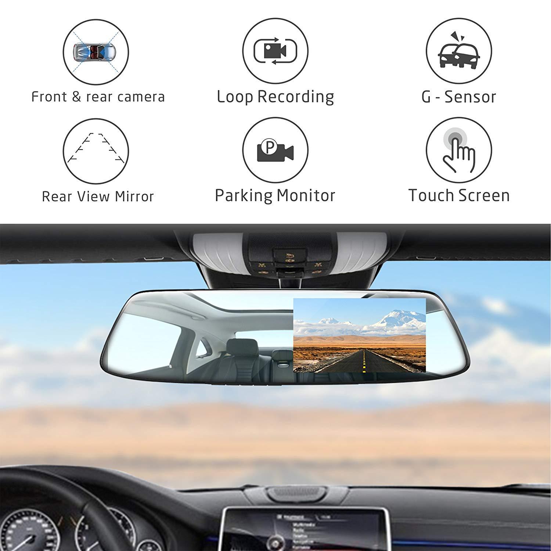 "TOGUARD Backup Camera 4.3"" Mirror Dash Cam"