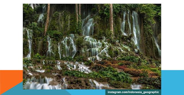 tempat wisata air terjun mata buntu sulawesi selatan