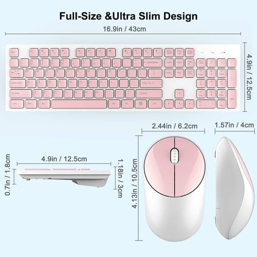 Review WISFOX Full-Size Wireless Mouse and Keyboard Combo