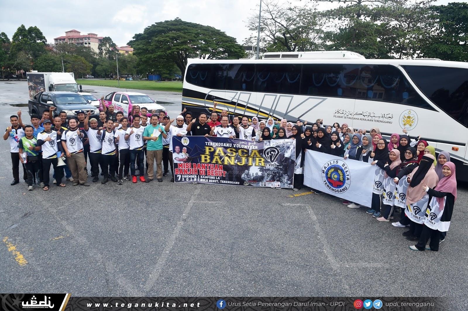 200 Sukarelawan T-Volt 'Turun' Cuci Rumah Terjejas Banjir