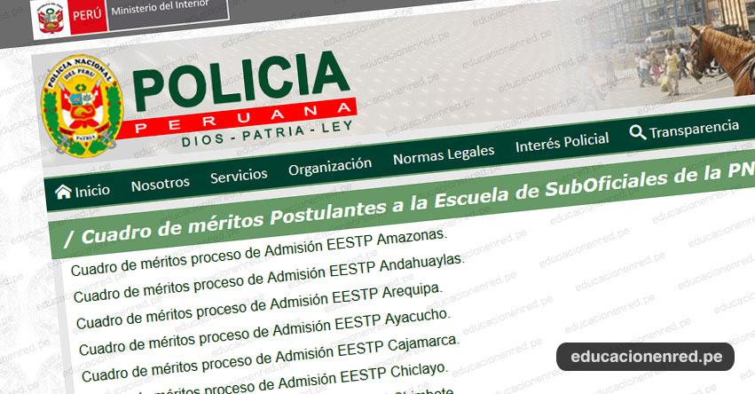 PNP: Resultados Examen Admisión 2019-1 (Sábado 13 Julio) Reporte Oficial - Cuadro de méritos - Examen de Poligrafía - Escuela de Sub Oficiales - EETS - www.policia.gob.pe