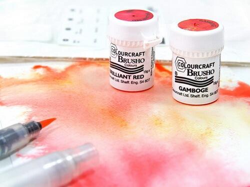 Aquarelltechnik mit Brusho Crystal Colour!