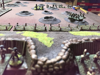 Firing breaks out on the right British flank