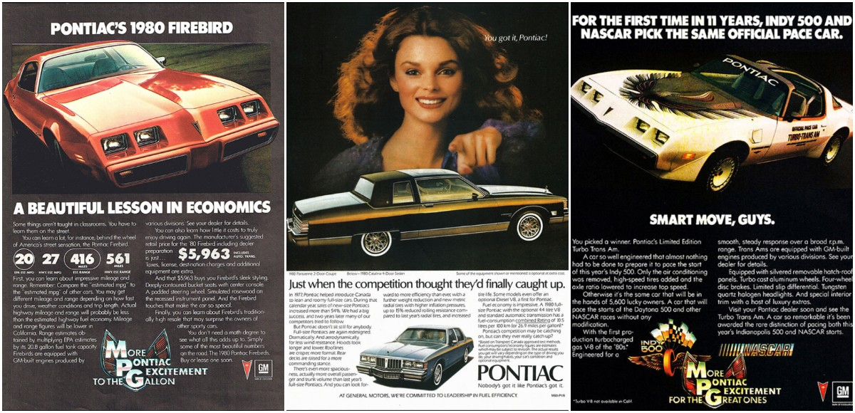 Beautiful Vintage Adverts of Pontiac Cars in 1980