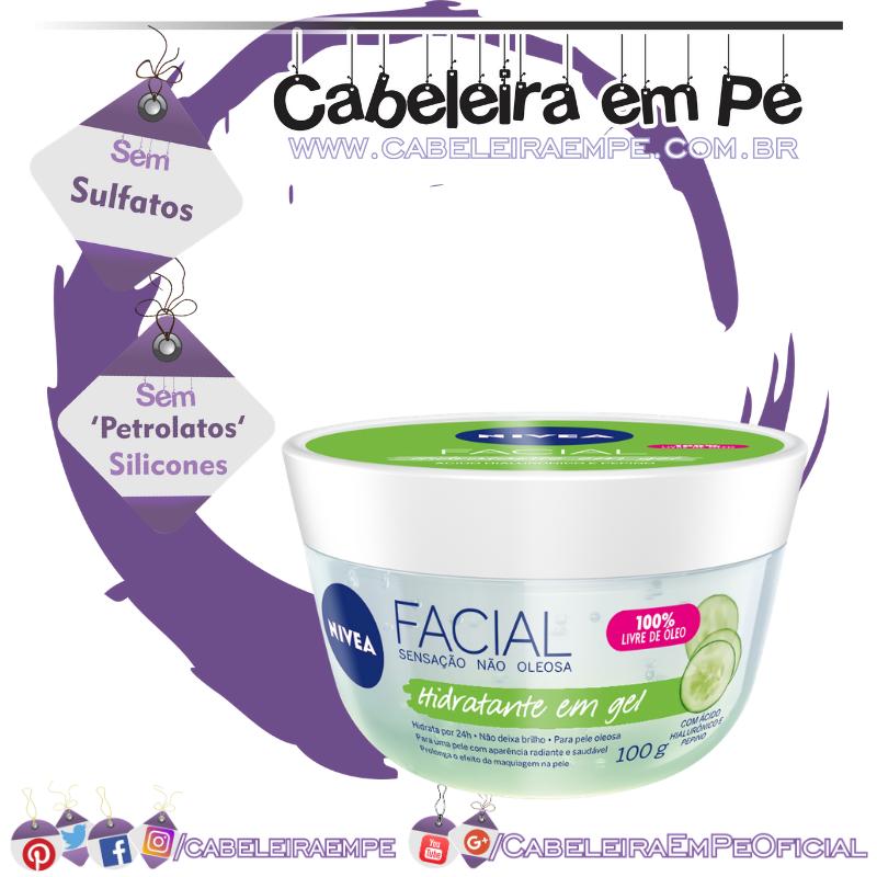 Hidratante Facial em Gel com Ácido Hialurônico e Pepino - Nivea