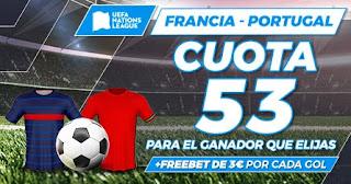 Paston Megacuota doble UEFA Nations League Francia vs Portugal 18-10-2020