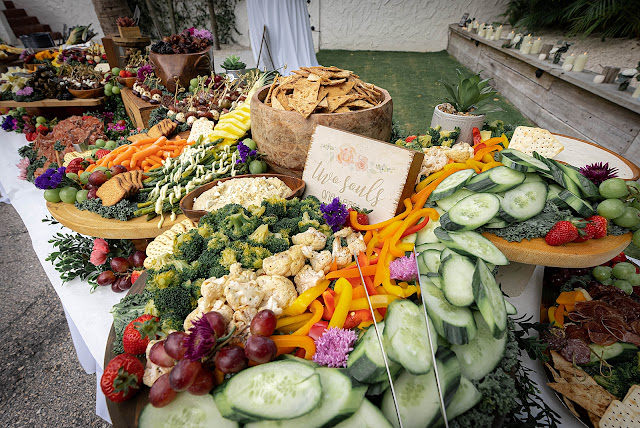 Detail shot of beautiful food arrangement for cocktail hour The Manor on St Lucie Crescent Wedding captured by Stuart Wedding Photographer Heather Houghton Photography