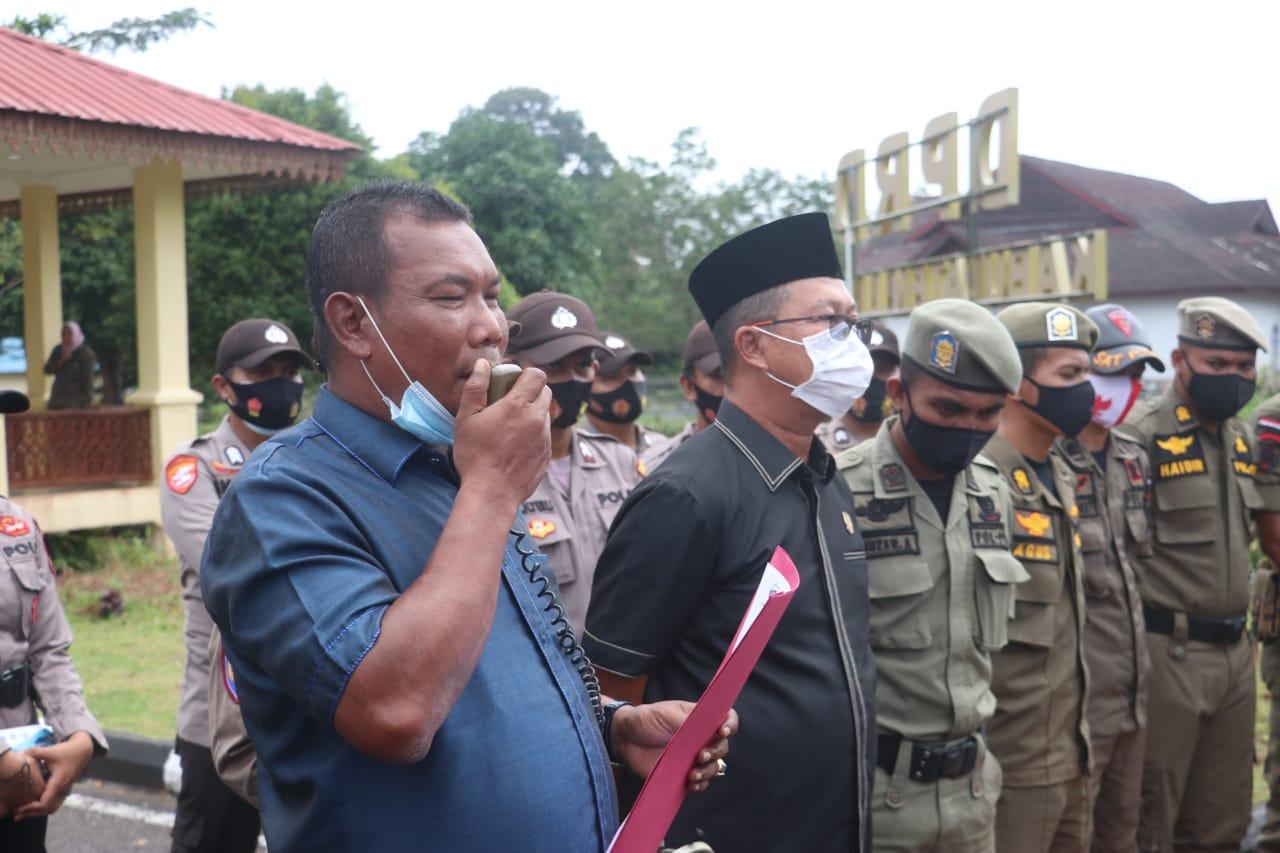 Polres Lingga Kembali Lakukan Pengamanan Aksi Damai Mahasiswa