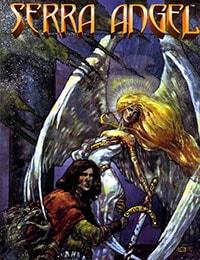 Serra Angel on the World of Magic: The Gathering