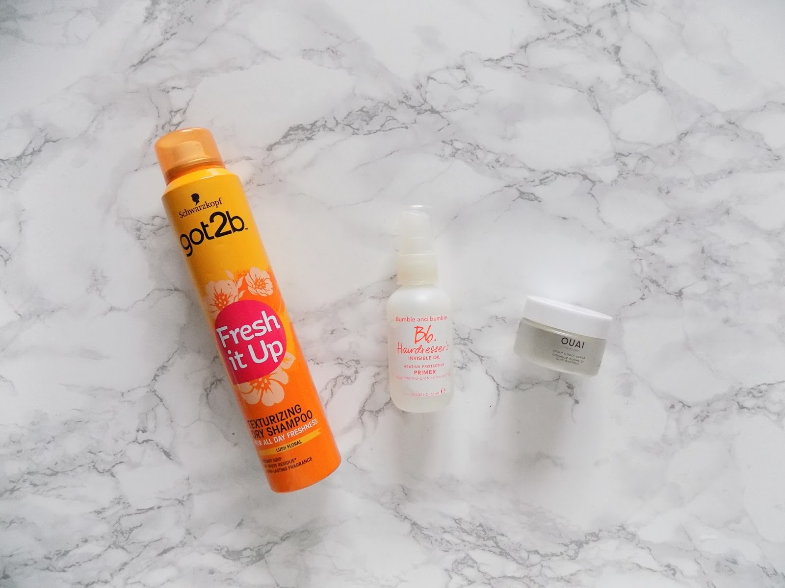 haircare empties review OUAI bumble