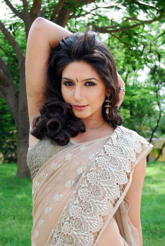 Slicypics Indian Actress Tamanna Bhatia Photos: Ragini Dwivedi Latest Spicy Saree Stills