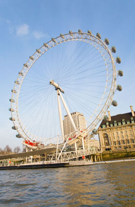 London Eye, River Thames, England, UK
