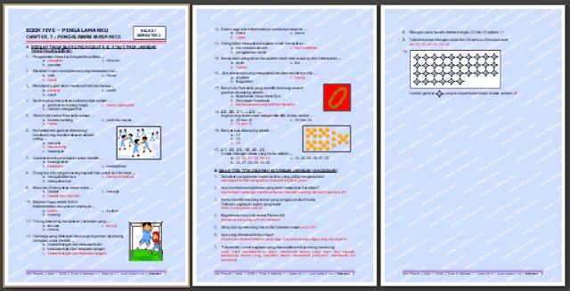 Berikut merupakan kunci balasan untuk soal tematik kelas  Kunci Jawaban Soal Tematik Kelas 1 SD/MI Tema 5 Subtema 1 Edisi Revisi 2021