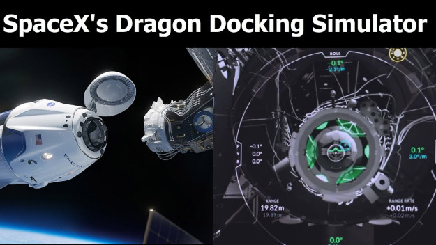 browser game της SpaceX για dock στον ISS