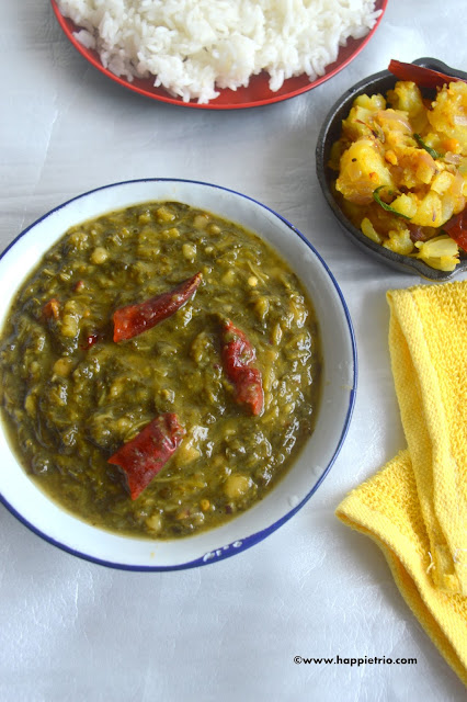 Spinach Dal Recipe | Keerai parupu masiyal