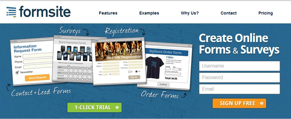 FormSite- Online form builder tool