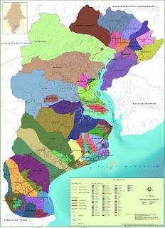 Peta Penajam Paser Utara