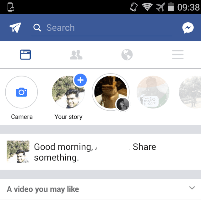 Facebook Stories in Facebook App