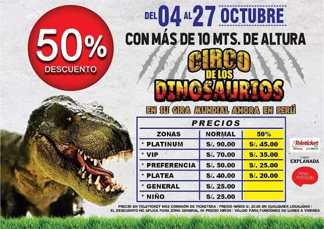Entradas Circo de los dinosaurios