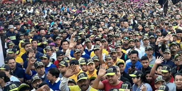 मप्र की पहली (42 किलोमीटर) फुल मैराथन: कुल 20 हजार लोग दौड़े | INDORE NEWS