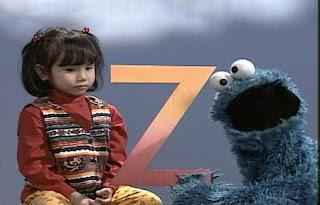 Cookie Monster and little girl Lexine introduce Z words. Sesame Street All Star Alphabet