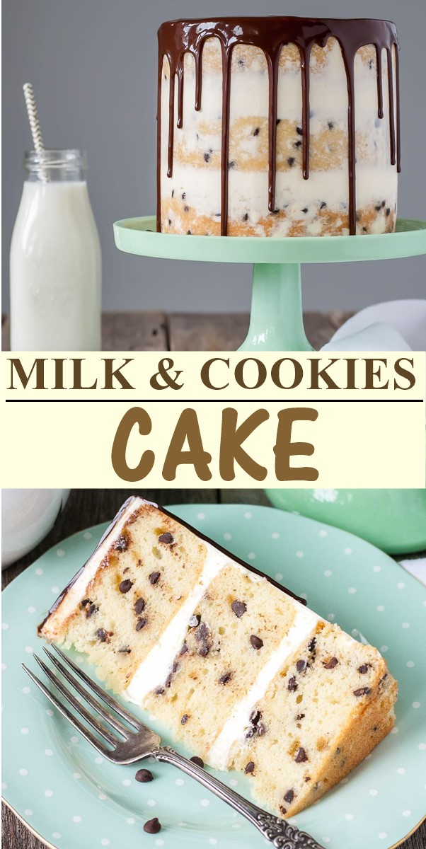 MILK & COOKIES CAKE #cakerecipes