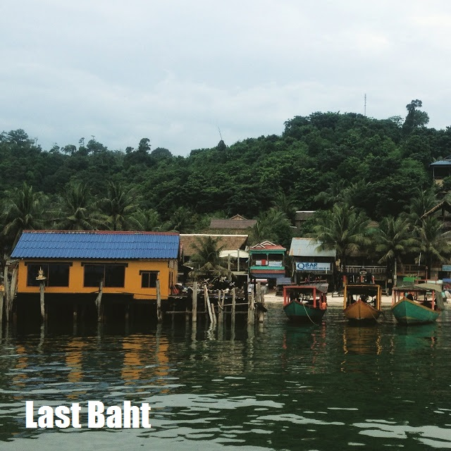 colorful buildings and boats at the docks on Koh Rong island, cambodia