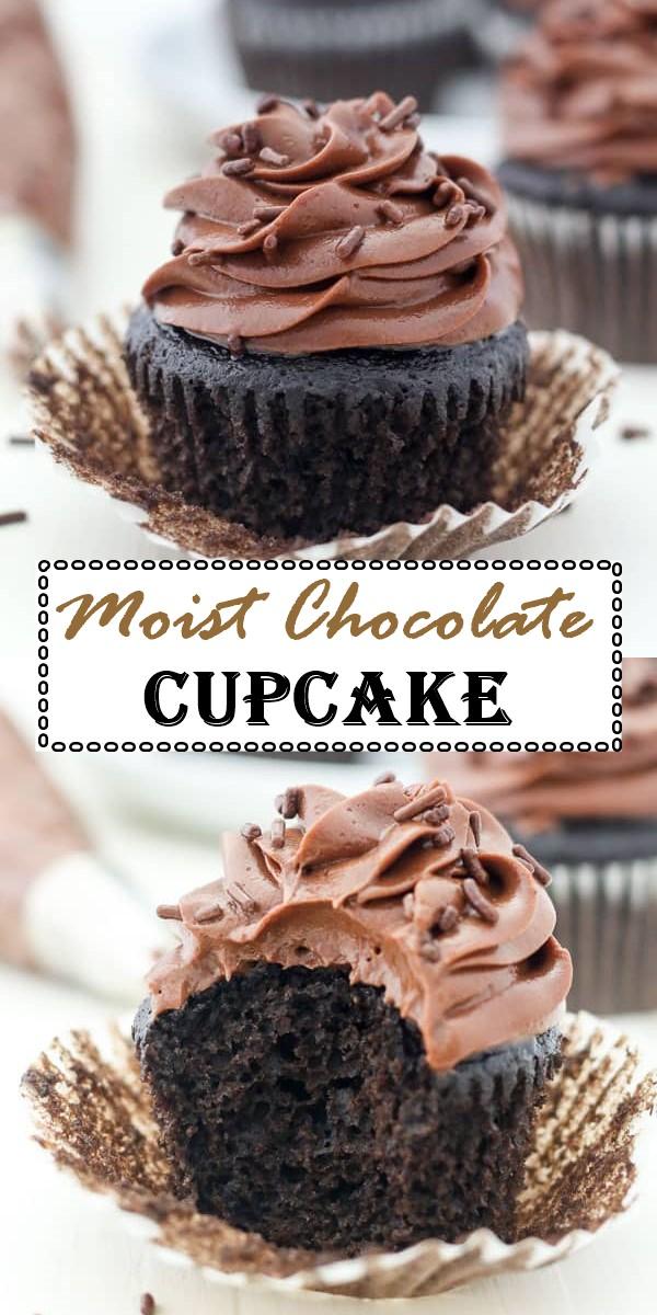 Moist Chocolate Cupcake Recipe #cupcakerecipes