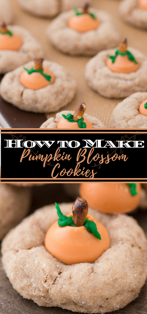 Pumpkin Blossom Cookies #desserts #cakerecipe #chocolate #fingerfood #easy