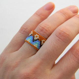 кольца из бисера купить оригинальные женские кольца в стиле этно