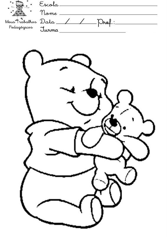 Pooh Para Colorear Bebé Imagui