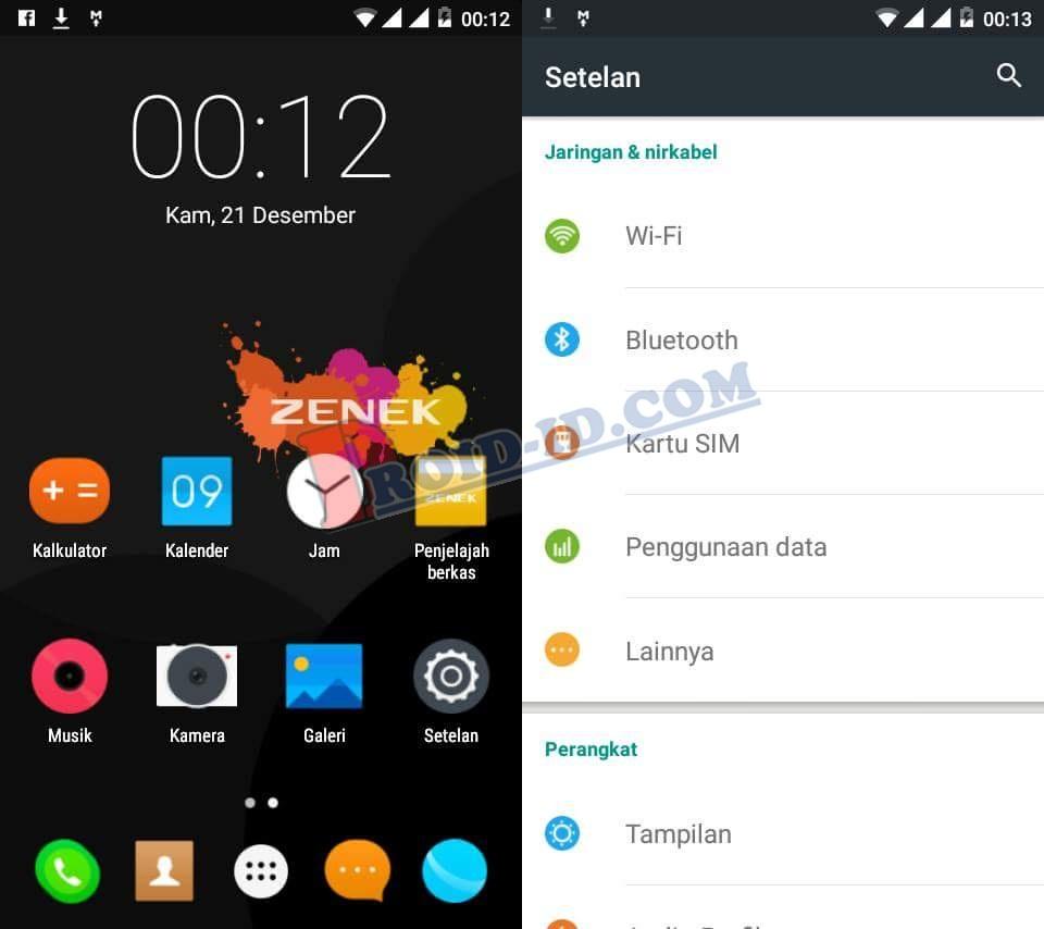 Custom Rom Zenek Padan Z506 Advan S5e Nxt 51 Maxtron New7a Smartphone