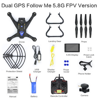 Spesifikasi Global Drone X183 Double GPS - OmahDrones