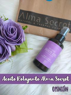 Aceite de RELAJANTE naranja, lavanda y bergamota de Alma Secret.
