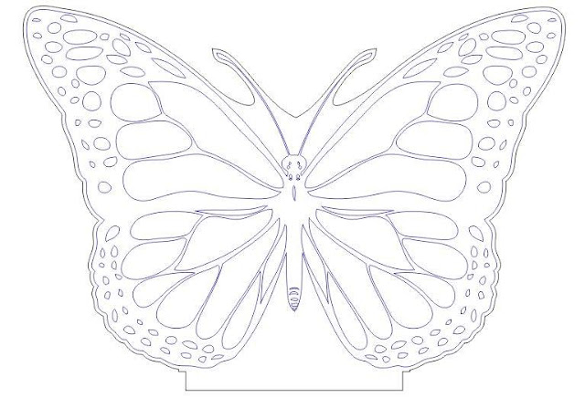 butterfly 3d led illusion  free dxf