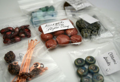 My bead soup swap from Tina Holden @ Beadcomber Originals :: All Pretty Things