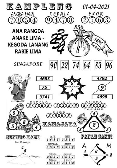 Kampleng SGP Kamis 01 April 2021