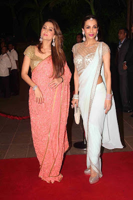 Malaika Arora and Amrita Arora in Arpita Khan wedding reception
