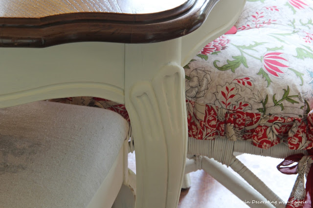 Painted Table Legs-Bargain Decorating with Laurie