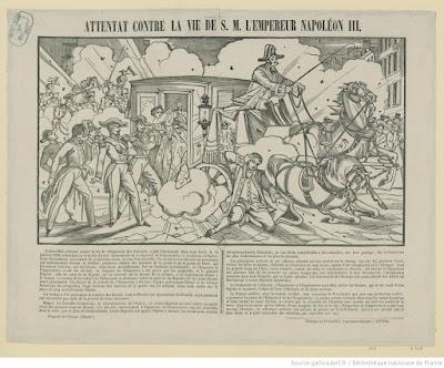 attentat du 14 janvier 1858 gravure