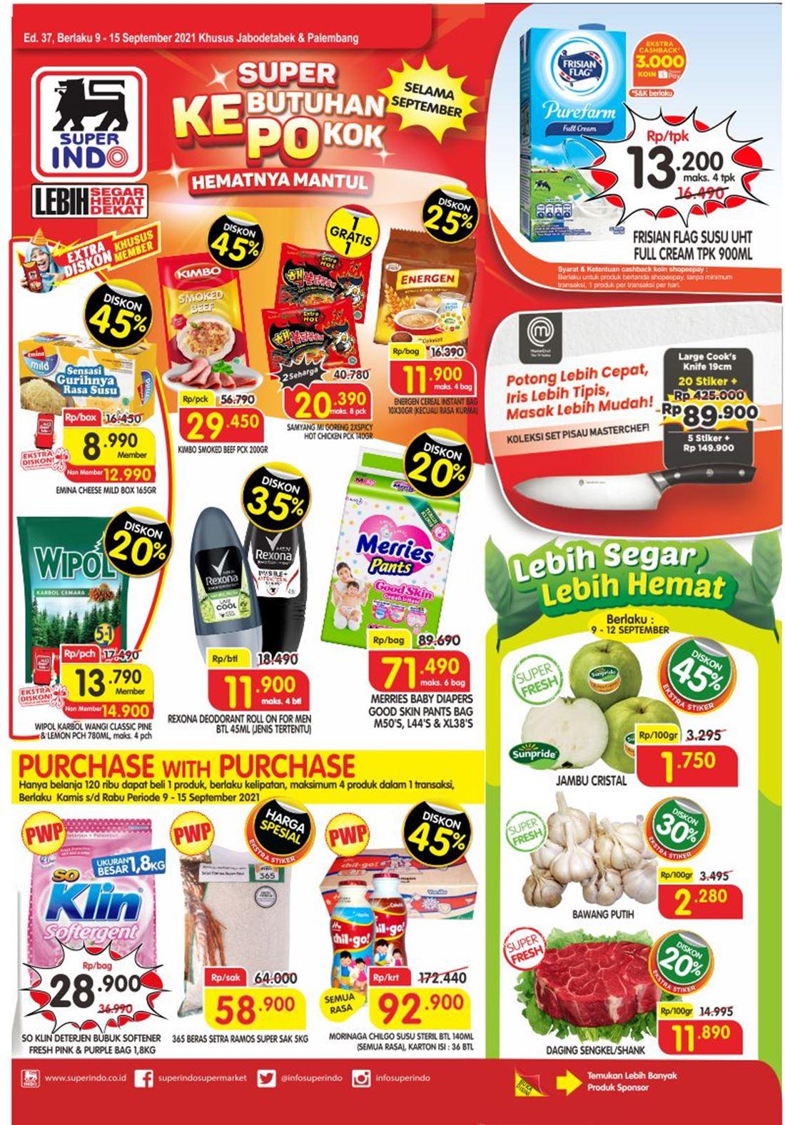 Katalog Superindo Promo Superindo Mingguan 09 - 15 September 2021