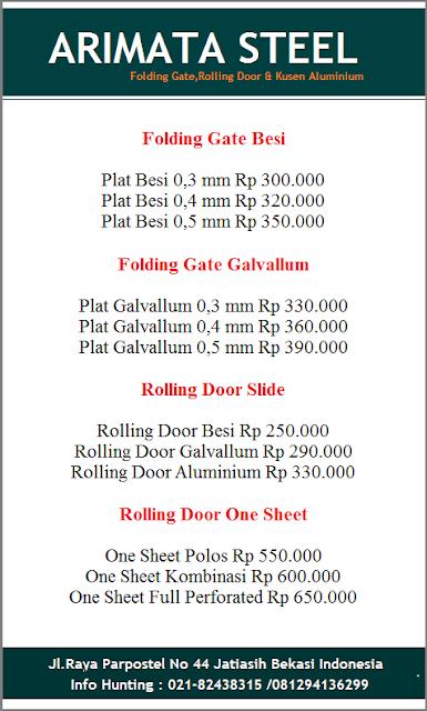 harga folding gate Arimata
