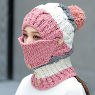 knitted coronavirus face mask protection