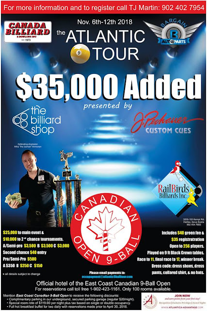 2nd Annual East Coast Canadian 9 Ball Open Announcement!